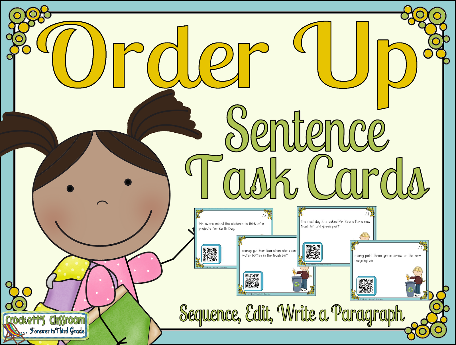 Sentence Task Cards Sample--Crockett's Classroom