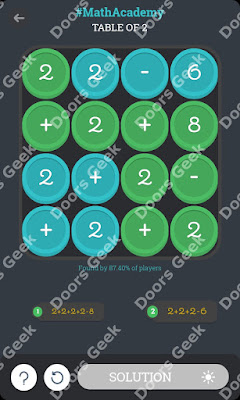 "Math Academy ""Table of 2"" cheats, walkthrough"