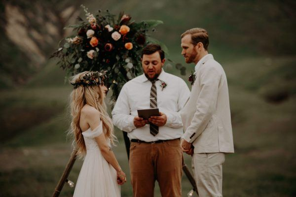 Boda en Wind Wolves Preserve ceremonia