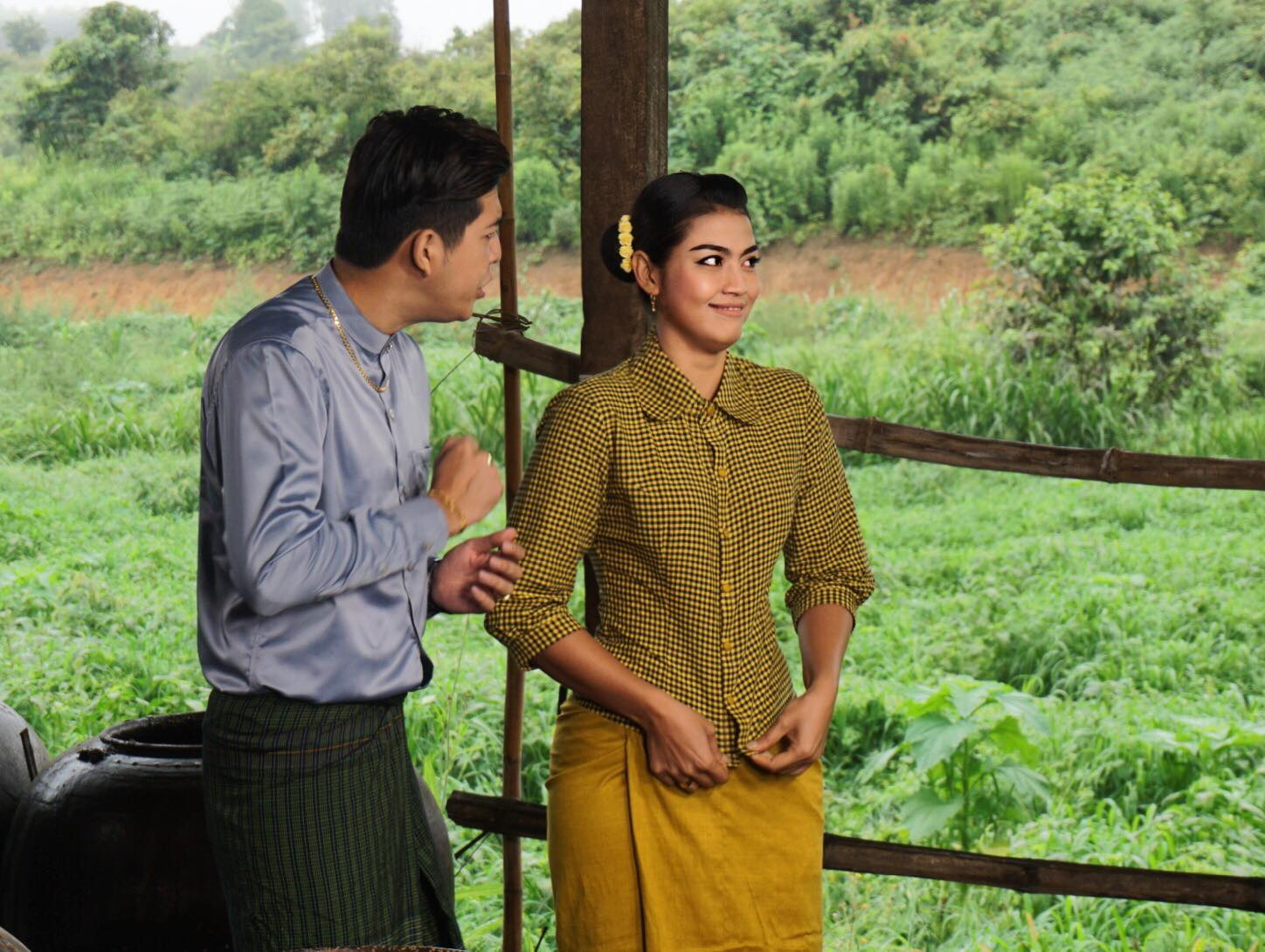Ei Chaw Po Behind The Scenes Snaps With Myat Thu Kyaw