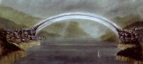 Luminarias Nocturnas. Historia de Eiel Bellaure. Puente-luna