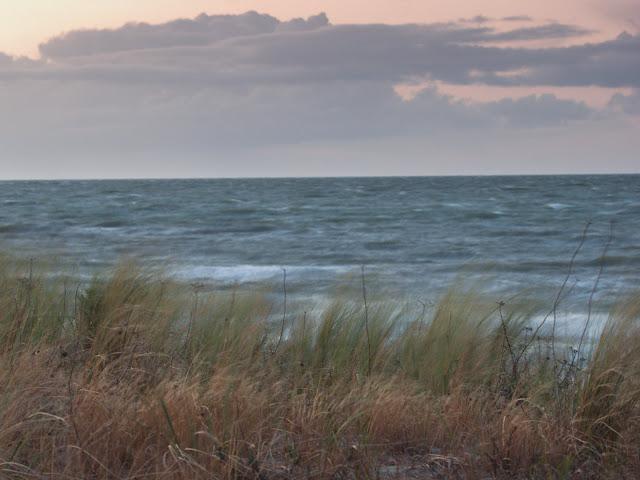 An einem stürmischen Tag an der Ostsee