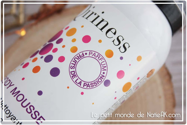Body Mousse nettoyante de Qiriness Fruits de la passion