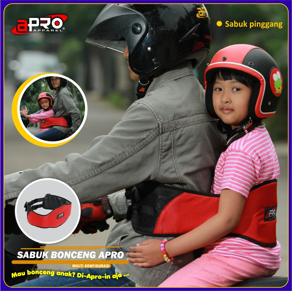 Sabuk Bonceng Anak Apro Motor Safety Belt Untuk Penopang Punggung Adalah Bagian Khas Yang Didesain Menyatu Dengan Tali Bahu Sehingga Pada Saat Digunakan Layaknya Memakai