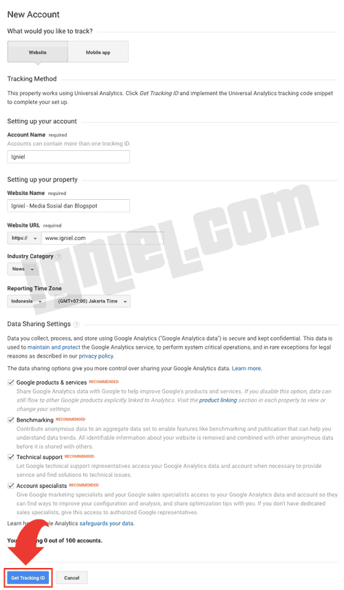 Tutorial Pasang Script Google Analytics di Blogger