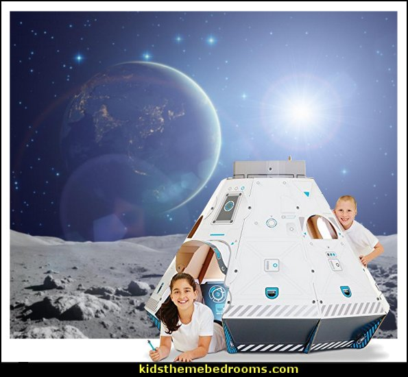 outer space theme bedrooms - planets decor - solar system decorating - moon stars alien theme bedrooms - star wars theme bedrooms - robots rockets theme decorating - galaxy bedding - astronaut wall murals Sci Fi theme bedrooms - Star Wars bed - space ships theme beds - Star Wars Bedroom - monsters and aliens baby bedroom - Space Shuttle Bunk Bed With Launch Tower