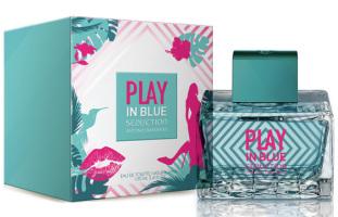 Play Seduction in Blue Woman by Antonio Banderas