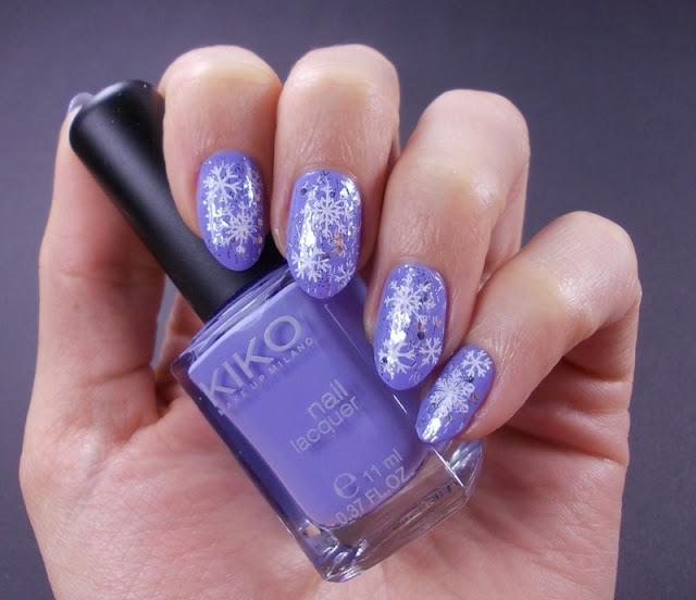 snow winter nails stamping Kiko 338