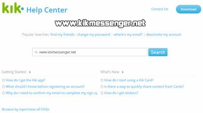 Como reportar errores de Kik Messenger