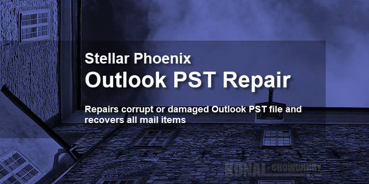 Restore corrupted PST files using Stellar Phoenix Outlook PST Repair