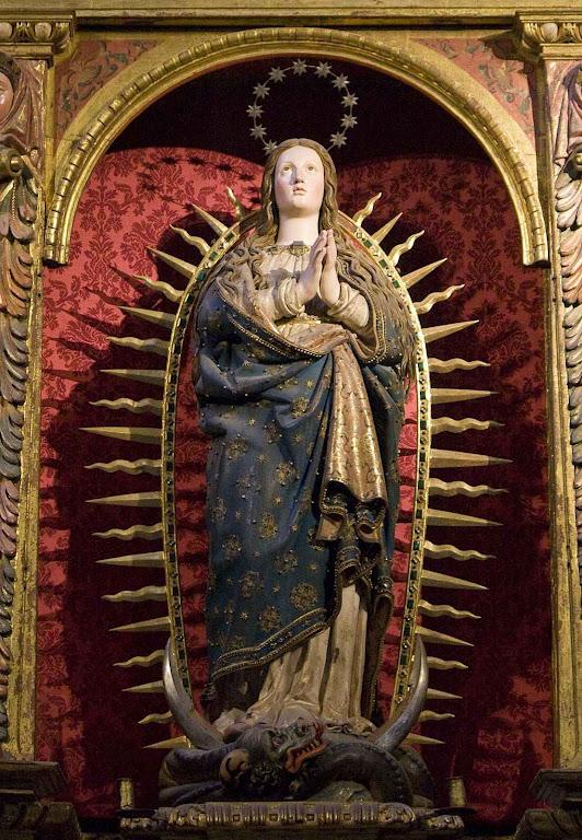 Imaculada Conceição, catedral de Segovia, Espanha.