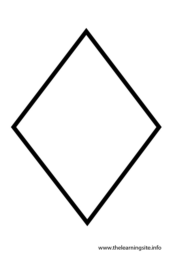 Free coloring pages of diamond shapes