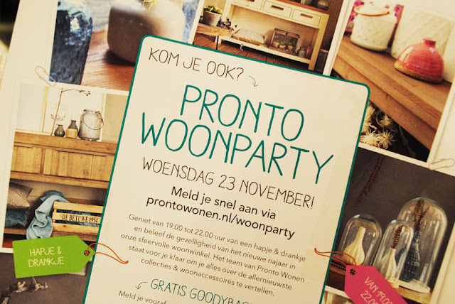 uitnodiging pronto woonparty