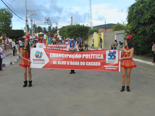 Olho D'Água do Casado, 55 anos de Emancipação Política, confira imagens e vídeos das festividades