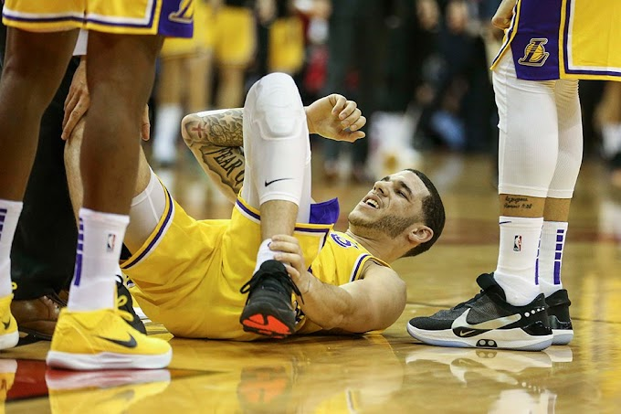 """NBA - Lakers PG """"Lonzo Ball"""" out 4 to 6 weeks with ankle injury"""