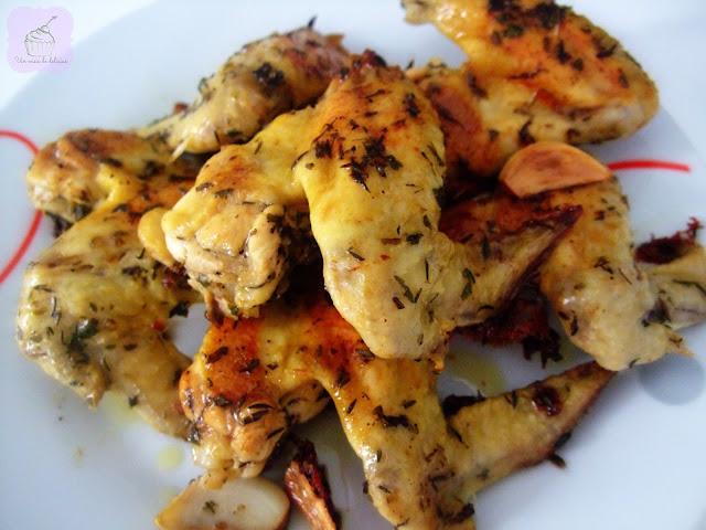 Ailes de poulet à l'ail et au vinaigre