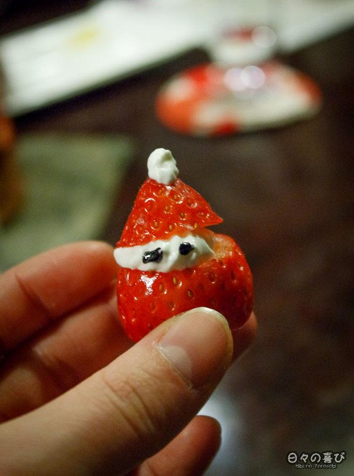 fraise de noel, restaurant Ganko, Kyoto