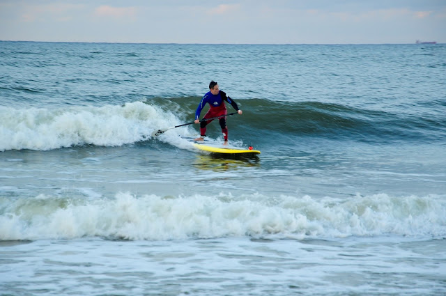 SUPsurfer on Baltic Sea