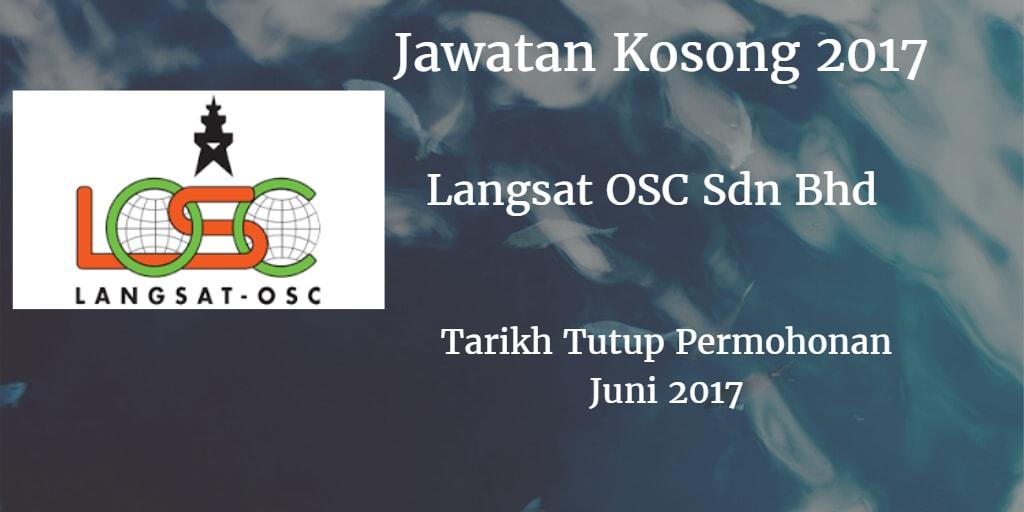 Jawatan Kosong LANGSAT OSC SDN.BHD 23 Juni 2017