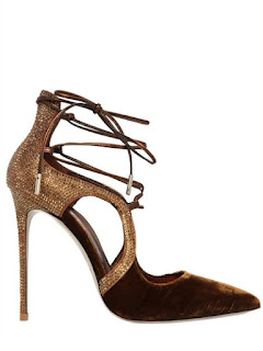Le Silla Brown Velvet High Heels