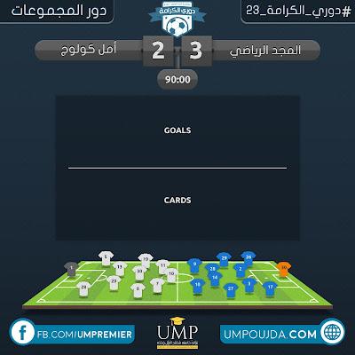 كلية العلوم : دوري الكرامة 23 - دور المجموعات - الجولة الثانية - مباراة 23