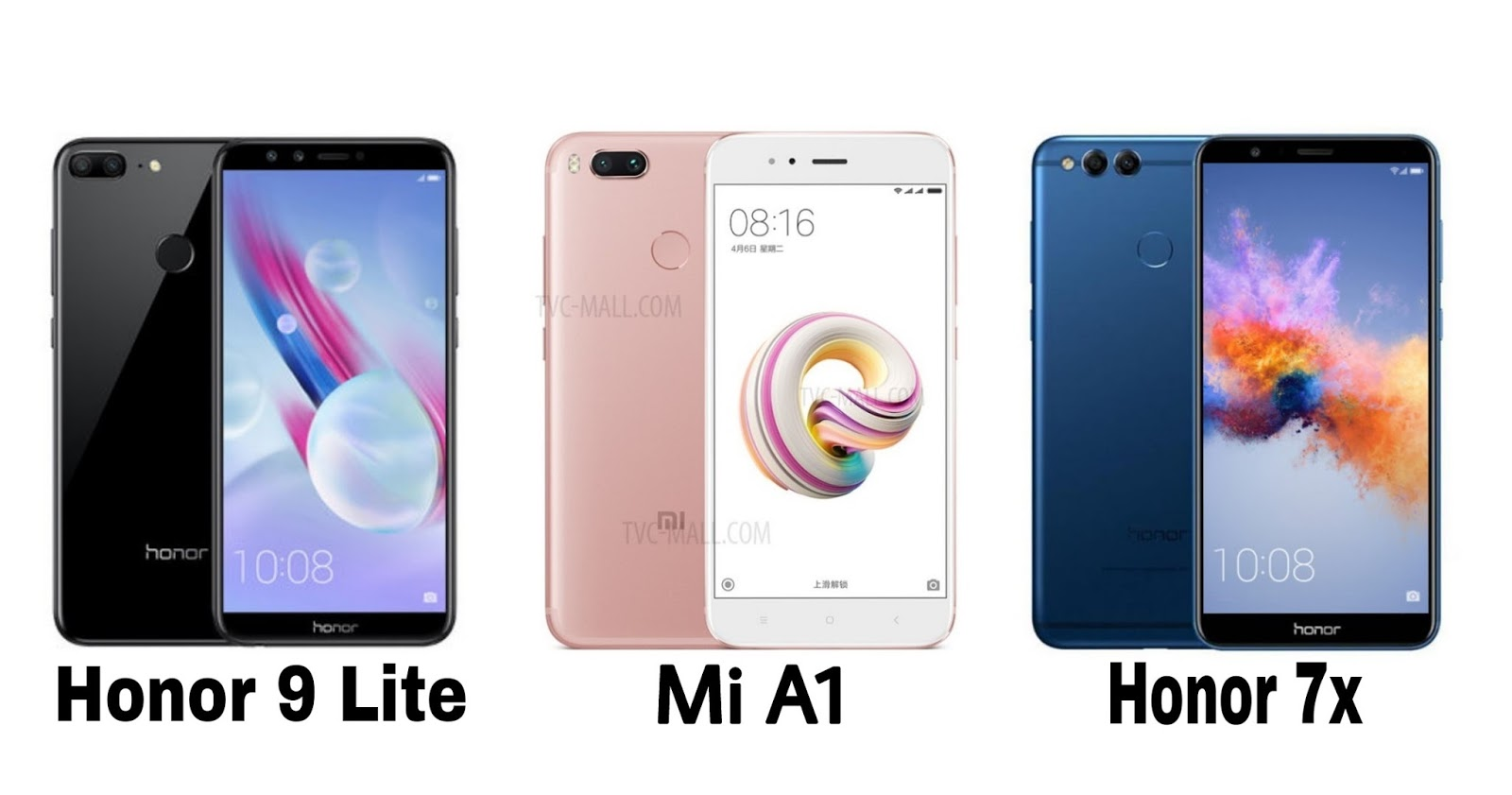 honor 9 lite vs honor 7x, honor 9 lite vs mi a1