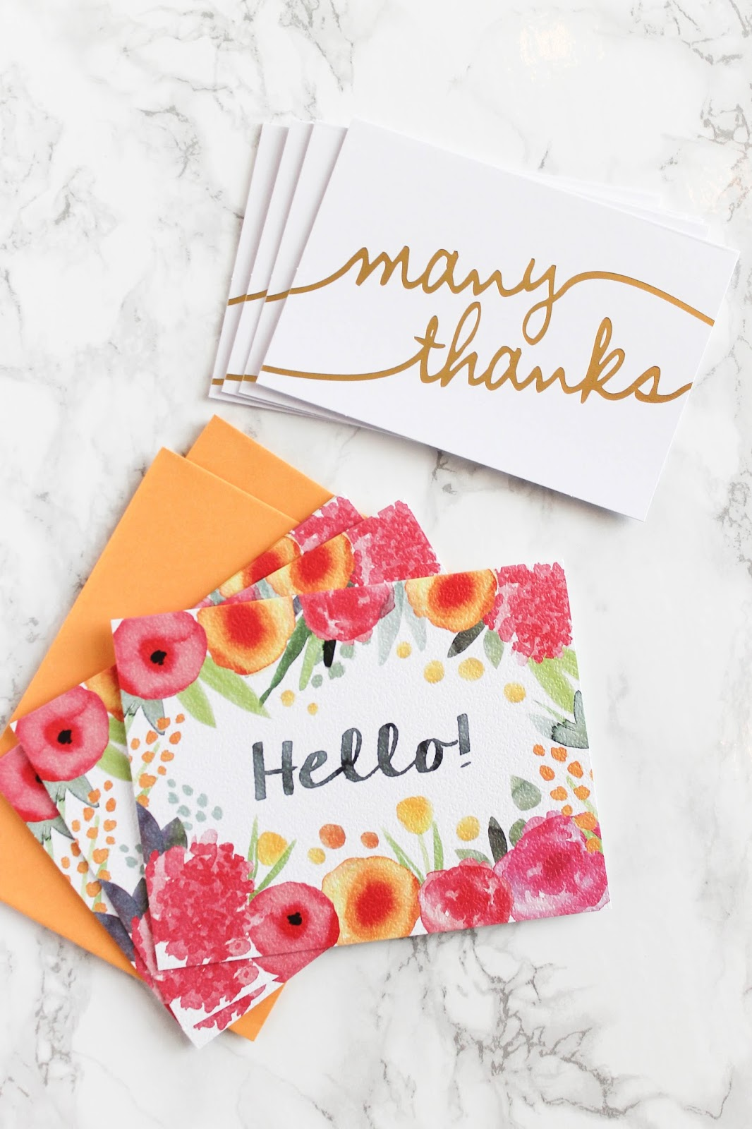 Pretty Thank You Cards for College | The Bella Insider
