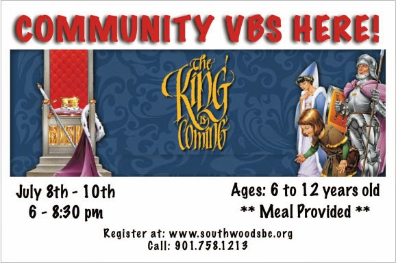VBS Banner for South Woods Baptist Church | Banners.com