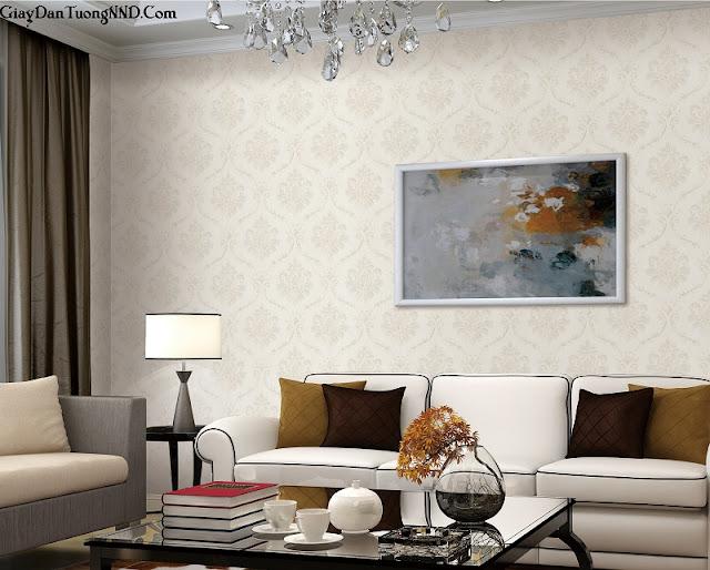 Giấy dán tường được sử dụng để trang trí nội thất gian phòng