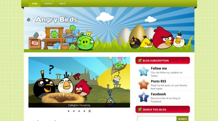 Free Angry Birds III - Magazine Style Blogger Template