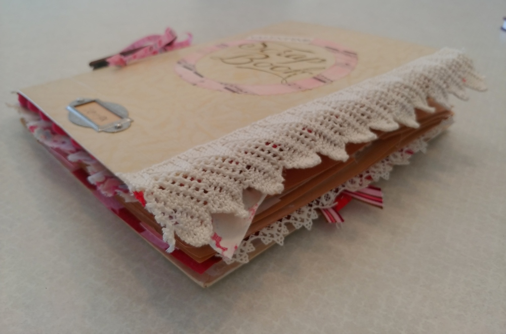 Altered book for Valentine's Day
