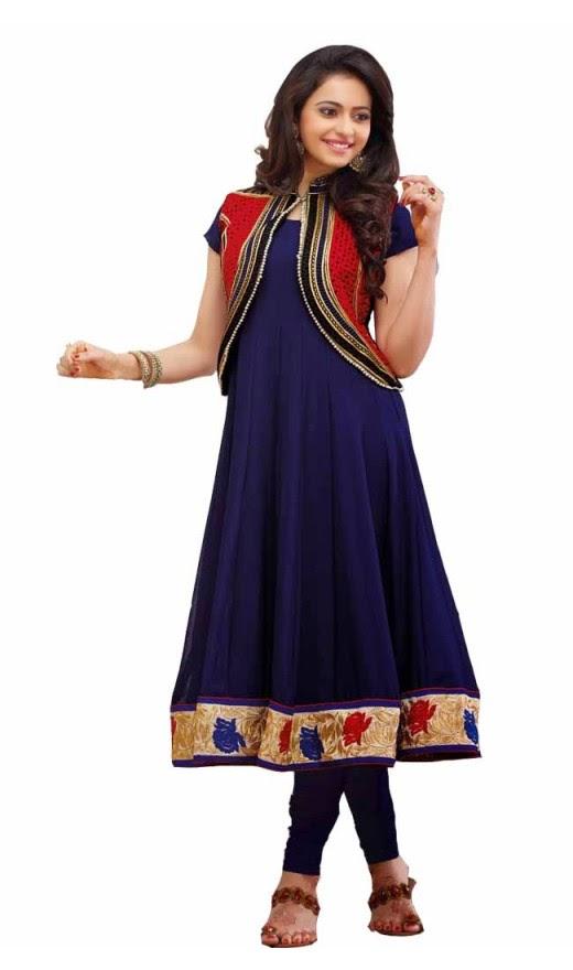 Rakul Preet Mesmerizing Blue Salwar Kameez