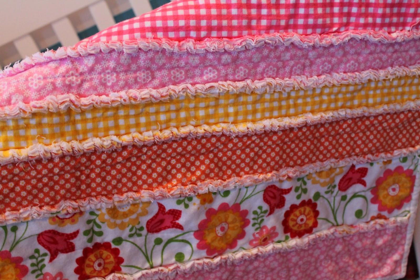 Elizabeth & Co.: DIY Flannel Baby Rag Quilt