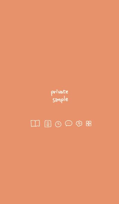 Private simple -mandarin orange-