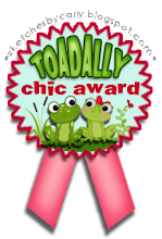 I won a Toadily Chic award at Sketches  by Carly