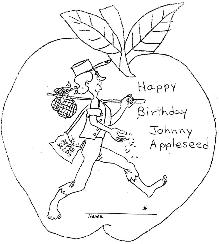 jonny appleseed coloring pages - photo#16