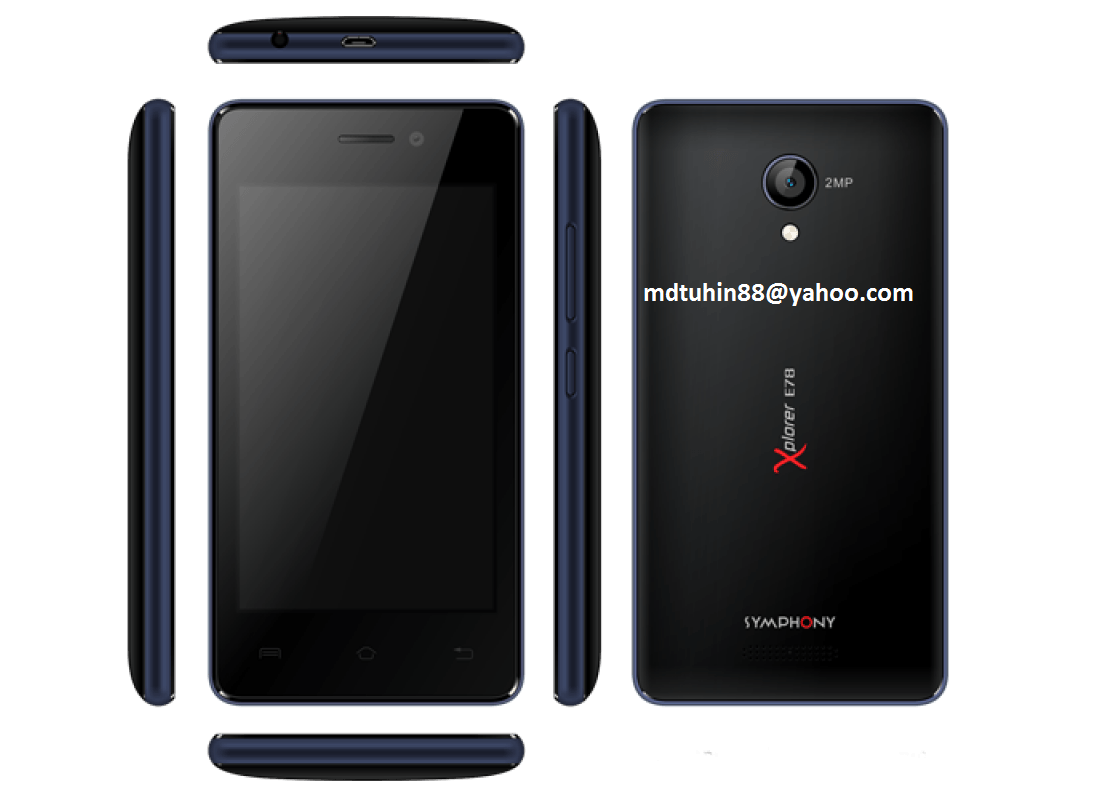 Symphony E78 Official Tested Firmware Download Here