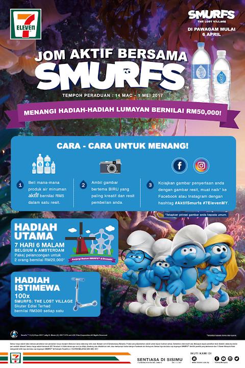 Contest Jom Aktif Bersama Smurfs! dari 7 Eleven