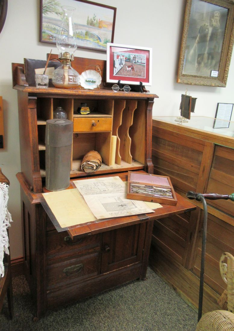 I Was Touring The Massena, NY Museum (see Also Part 1, Posted Yesterday)  And Stopped At This Old Writing Desk For A Closer Look: