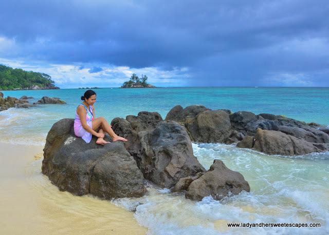 Lady in Seychelles