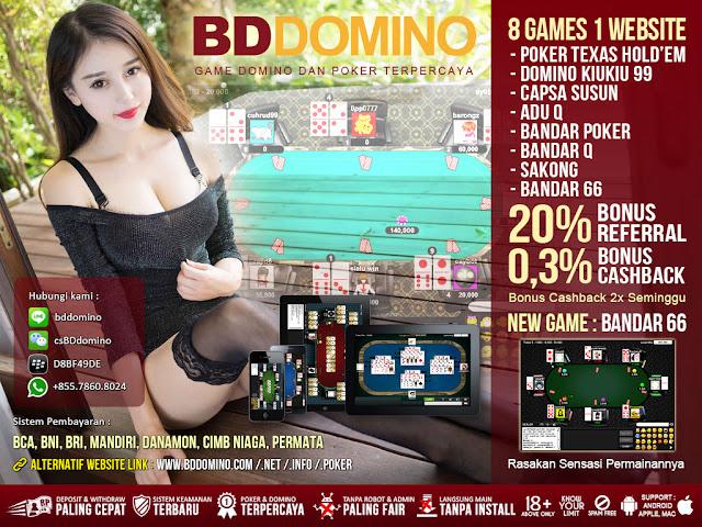 Image of Promo Bonus Cashback Judi Bandar66 Online Terpercaya dan Teraman