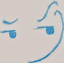 mischevious grin