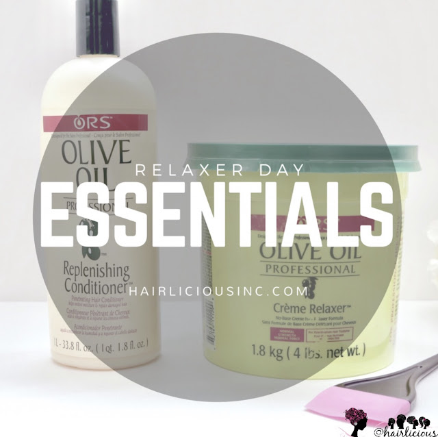 Relaxer Day Essentials - Featuring ORS Olive Oil Relaxer and ORS Replenishing Conditioner
