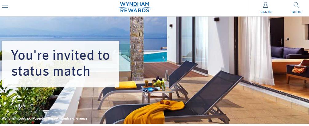 溫德姆獎賞會籍匹配和快速升級活動Wyndham Rewards Status
