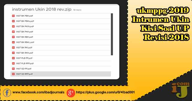 ukmppg 2019 - Intrumen Ukin, Kisi Soal UP Revisi 2018