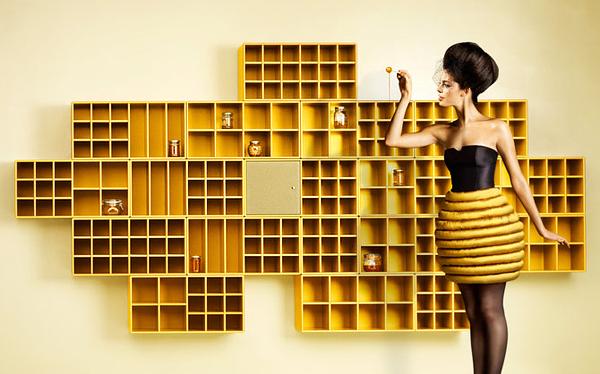 Fotos con inspiración modelo  vestda de abeja