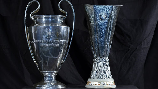 UCL and UEL trophy