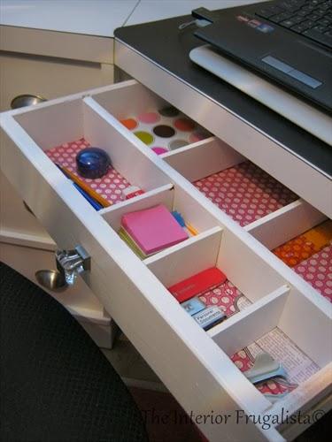 Custom desk unit drawer makeover