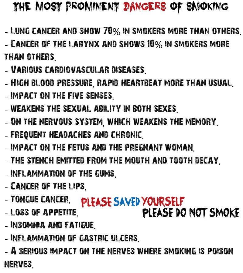 Essay report danger of smoking