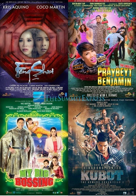 MMFF Ranking 2014: Tolentino announces Top 4 Films, Total Earnings